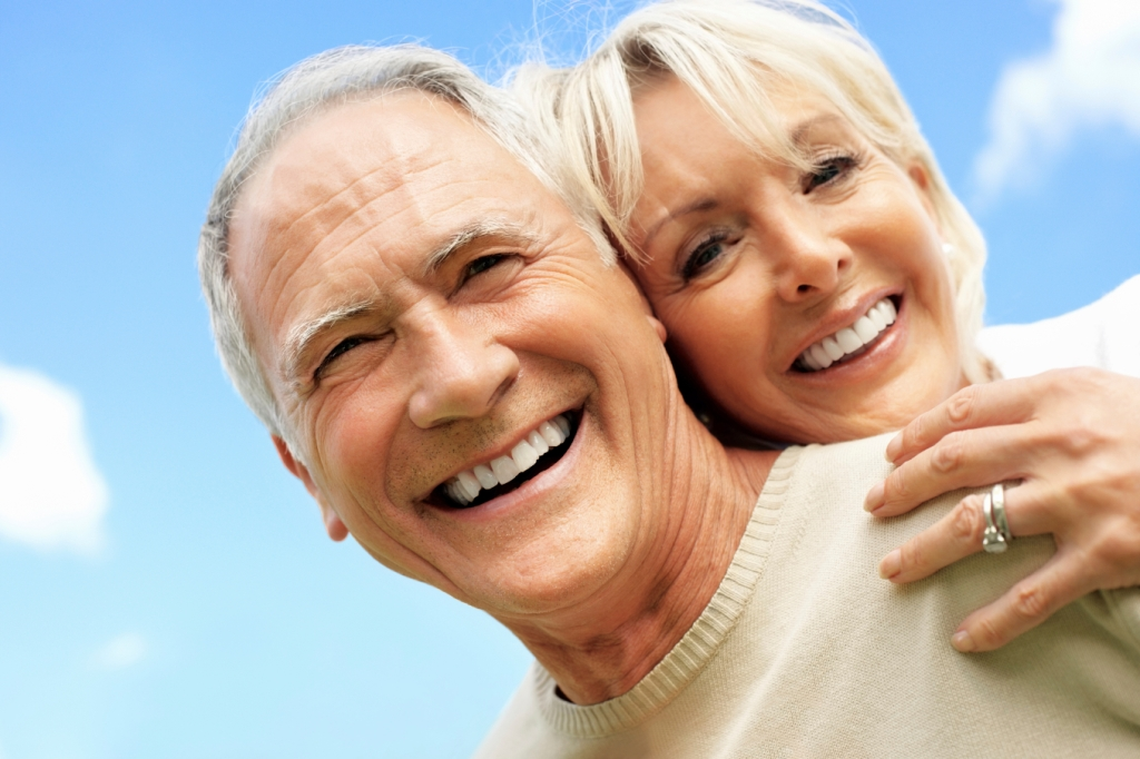 Joyful mature couple